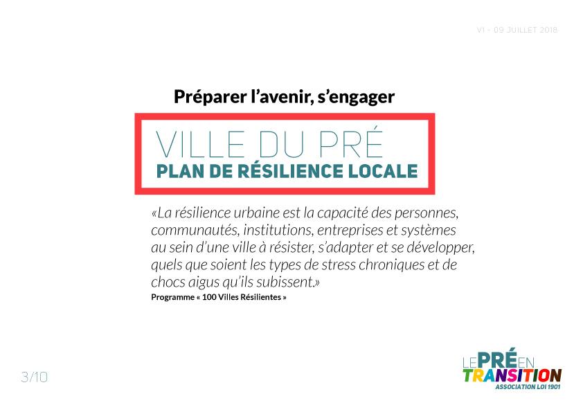 Ville du Pré Plan de Résilience locale